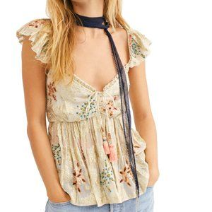 FREE PEOPLE - All That Shimmers Jacquard Top (S)